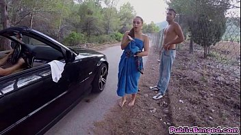 axxxteca Jenny Glam fucked on a public road and sucks a big fat cock