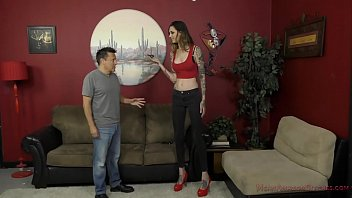 xvedieos 6 Foot 3 Rocky Emerson Dominates Her Short Roomate - Femdom & Ass Worship