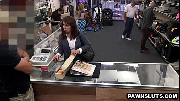 pornsia Brte tries to sell some cards to the pawn shop