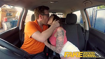 nxxx Fake Driving School Spanish kitty cat rides cock