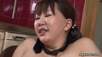 pornuh Chubby Japanese MILF moans while her hairy pussy is toyed