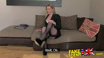 sabinadulce FakeAgentUK Stocking clad posh MILF willing to try it all on the casting couch