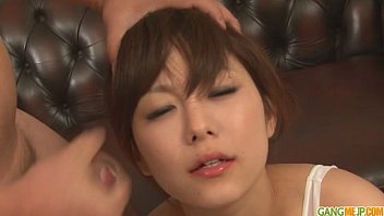 nxgx Guys line up for an asian girls blowjob from Miku