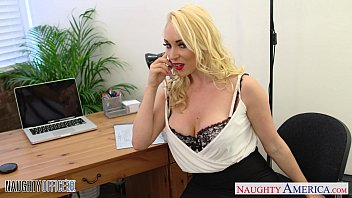 alasfeet Blonde Victoria Summers ride cock in the office