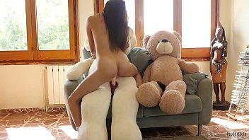 povd Asian japanese girl Miyuki first sex with plush toys after fitness workouts