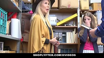 xxxviedo ShopLyfter - Granddaughter And Grandmother Duo Fuck LP Officer After Getting Cau
