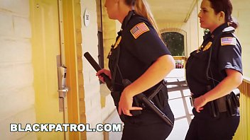 letsjerk com BLACK PATROL - White Cops With Big Tits Riding Big Black Cock On The Job