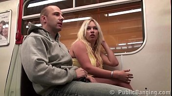 sextv Big tits girl Stella Fox PUBLIC sex threesome in a subway train with 2 guys