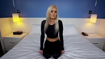 yujizz Busty blonde makes first porn EVER