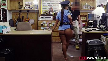 kamaveri Babe in a police uniform banged up her tight butt on xxxpawnpornotagir