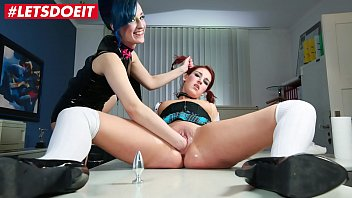 av4us Sexy School Girl is dominated with rough punishment by lesbian