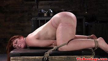 seneporno Spreadeagled bondage sub tied up and whipped