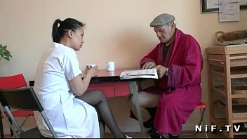 borderlandbound French old man Papy Voyeur doing a young asian nurse