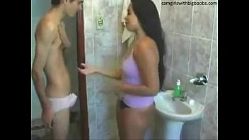 xxxhamster Step brother sister live sex on bathroom found them on camgirlswithbigboobs