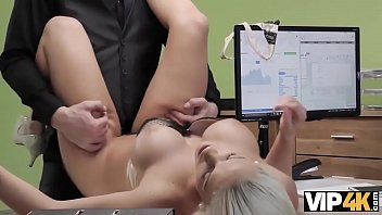 tgirl VIP4K Tanned beauty passes dirty porn casting in the loan office