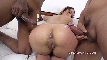 bryci com Briana Bounce gangland style 3on1 interracial DP in that Big Butt