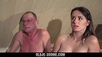 kagney 2 Virgins Jump on Grandpa Cock And fucks His Brains Out in Threesome Sex