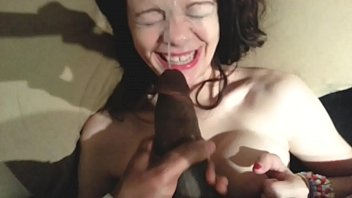 Little White Girl Gets Facial Her Perky Tits Fucked By BBC