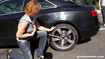 www xvidvides com Grandma gets fucked hard outdoors after an auto repair