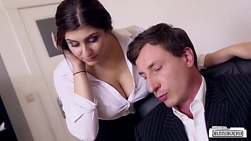 tukif BUMS BUERO - Boss fucks busty German secretary and cums on her big tits