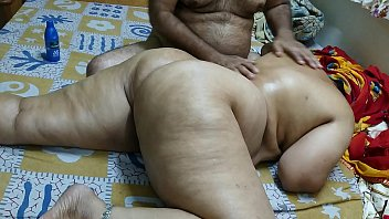 painal 50 YEAR OLD INDIAN STEP MOM FULL BODY MASSGE BY HER YOUNG 40 YEAR OLD STEP SON