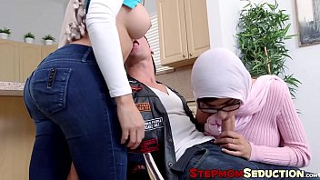beegxxx Arabian MILF and teen share rock solid cock with pleasure