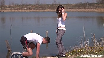 lookathernow com Brte teen Pascalle gets fucked and jizzed outdoors