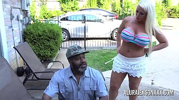 shoejob Busty MILF Alura Jenson pounded by a big black cock