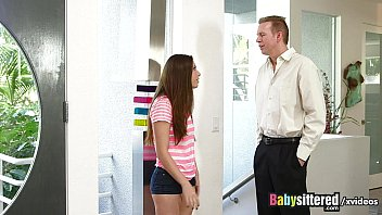 familydick Tight nanny fucks herself then when caught fucks her boss
