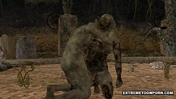 tubegalore 3D Zombie Gets Fucked Hard in a Graveyard