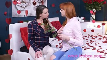 xxxnxx Lesbea German teen redhead valentine 69 and scissors with older woman
