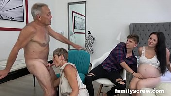 pronktube com Pregnant Maid watching Family Fuck