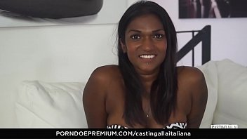 morazzia CASTING ALLA ITALIANA - Interracial MMF threesome with gorgeous Indian babe Maya Secret