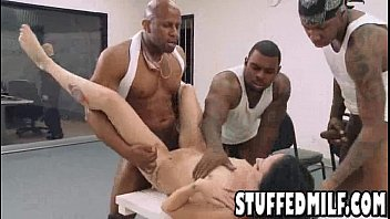 pornfidelity MILF with small tits gets gang banged by three big black cocks