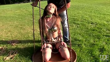 defloin Submissive Russian fairies Caged and Ass Fucked by Long Black Cock