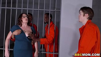 menporn Busty Mom Maggie Green Takes Two BBCs in a Jail