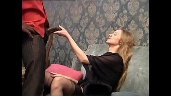 kantutan Sweet blonde is about to be buggered by a huge black cock