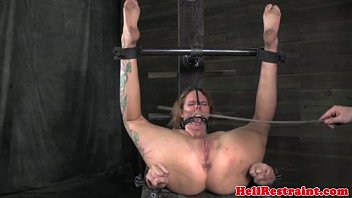 kagney Mouth gagged bitch being caned