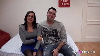 www largeporntube com Young Spains couple sells their intimacy up and fucks for the cameras for the first time