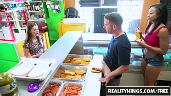 kagney RealityKings - Money Talks - &lparAdrian Maya&rpar and &lparAlice March&rpar - Hot Dog Stand