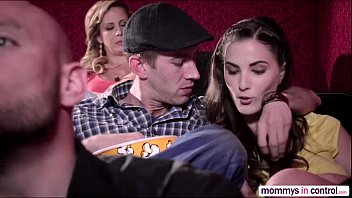 vixen com Teen Cherie in a movie date dicking threesome with Milf Molly and hunk bf D