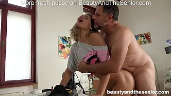 Lara West seduces old doctor Philippe Soine into fucking her hard