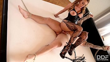 xvidieos2 Dominatrix Stacey Saran uses her Slaves Cock and Face to Cum Hard
