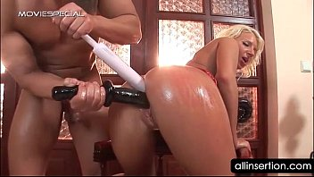 pornhab Oily blonde hoe gets ass filled with a mobile phone