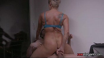 spermmania MILF babe bent over in her office