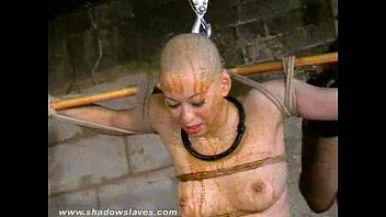 subnopor Bizarre asian humiliation of Kumimonster in dungeon bondage and messy feather an