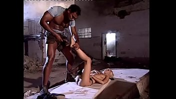 fuckingvedios Blonde lady wildly fucked by a black in an abandoned house