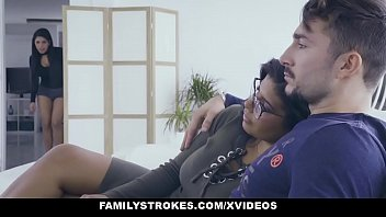 momzr FamilyStrokes - Hot Latin Twin Sisters Compete For Cock