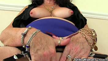 sexhayvc com British grannies Zadi and Pearl in stockings with suspenders