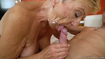 astekangel Old granny fucks the young mechanic - Lusty Grandmas